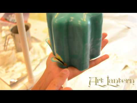 Making of a carved candle - Art Lantern