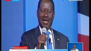Raila Odinga makes his closing remarks at the Presidential Debate 2017 SUBSCRIBE to our YouTube channel for more great...