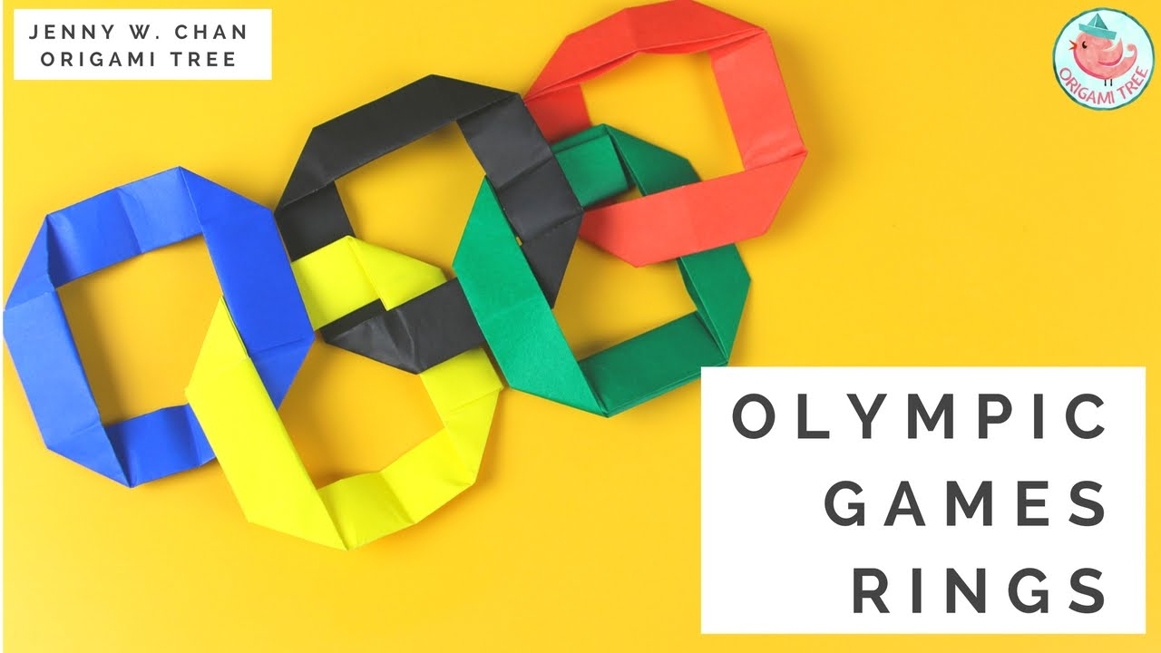 Olympics 2016 Kids Paper Crafts – Easy Origami Ring – Olympic Games Interlocking Rings