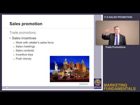 Topic 17.6 Sales promotion - Trade promotions