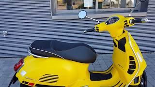1. Yellow Vespa GTS 125 Super Sport ABS E4 2018