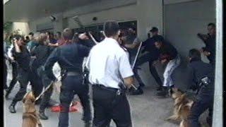 Niemiecka policja rozprawia się z neonazistami w Luxemburgu.