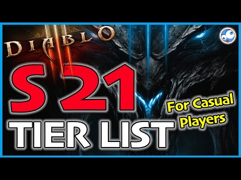 Diablo 3 Season 21 Tier List for Casual Players (Patch 2.6.9 S21 Trial of Tempests)