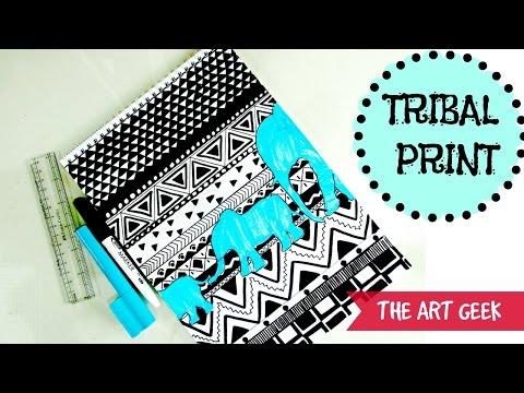 TRIBAL PRINT PATTERN (black && white)-Time lapse
