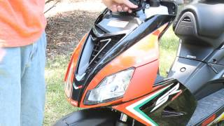 6. How to add / refill oil in Aprilia SR 50 2 Stroke