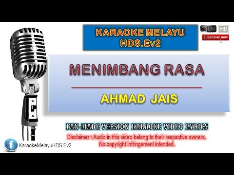 A. Ramlie - Menimbang Rasa | Karaoke Minus One | Lirik Video HD