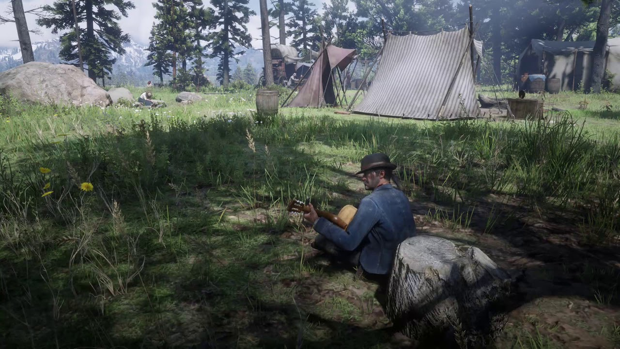 Red Dead Redemption 2 – Javier Escuella playing the guitar all songs different