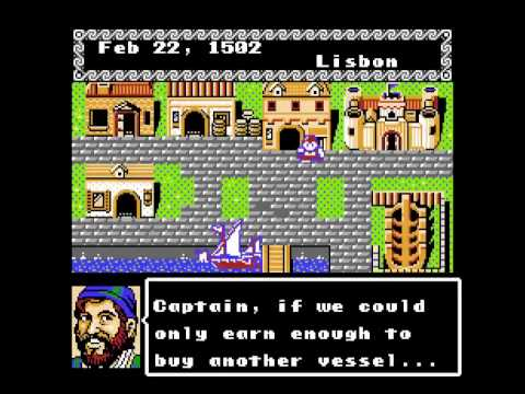 uncharted waters nes gameplay