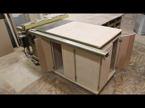 Make a table saw storage cabinet by Jon Peters