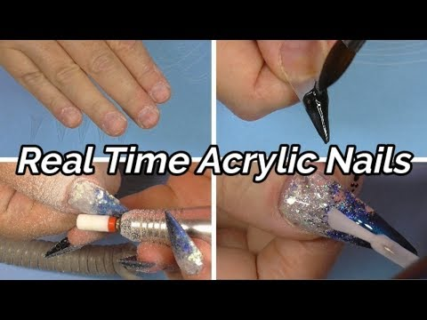 REAL TIME ACRYLIC NAILS plus UNIQUE TECHNIQUE TO DO NAILS  ABSOLUTE NAILS