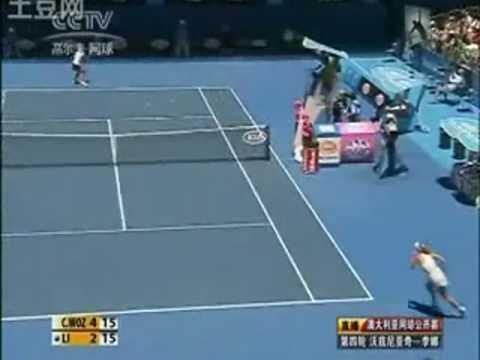 Li Na ante Caroline Wozniacki en el Abierto de Australian 2010