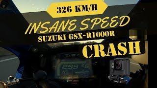 1. Suzuki GSX-R 1000R L7 TOP SPEED 326 km + INSANE Gopro Crash
