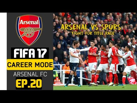 FIFA 17 Indonesia - Arsenal Career Mode - Spurs Vs Arsenal : Perebutan Puncak Klasemen #20