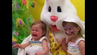Cute Baby Sisters Meet the Easter Bunny!  - Lilah & Londyn