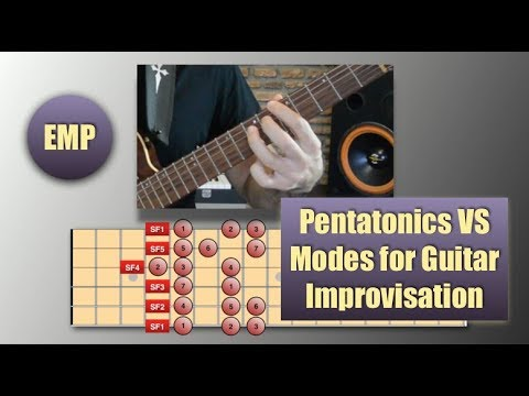 Pentatonic Scales VS Modes for Guitar Improvisation (Guitar Lessons) @EffectiveMusicPractice