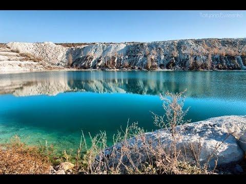 Путешествия по Крыму. Симферополь - Скалистое - озеро мраморное (затопленный карьер).