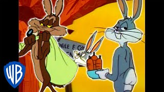 Video Looney Tunes | Wile E. Coyote Genius vs. Bugs Bunny | Classic Cartoon Compilation | WB Kids MP3, 3GP, MP4, WEBM, AVI, FLV Juli 2019