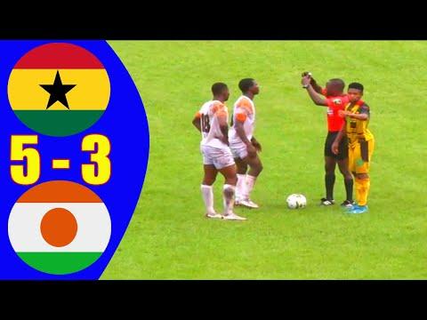 Ghana 0 - 0 Niger 5 - 3 - All Goals & Highlights & Penalty shootout- semi final - UEFA B U20 (2020)