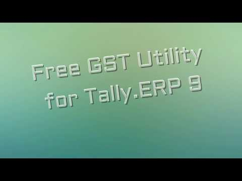 Get Free GST Utility for Tally ERP 9 Software (HSN Details in List of Items & Vouchers)