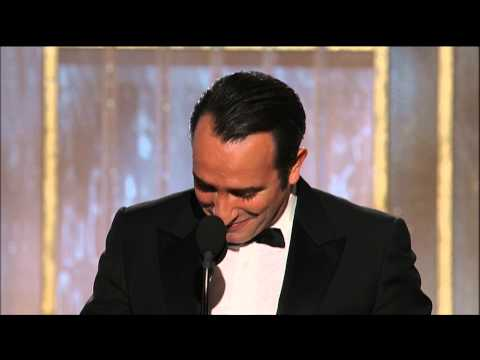 Jean Dujardin Wins Best Actor Motion Picture Comedy Or Musical - Golden Globes 2012