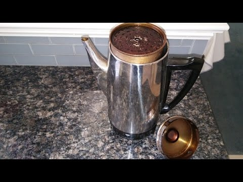 Easy How To Clean Up A Dirty Percolator Coffee Maker & Pot.