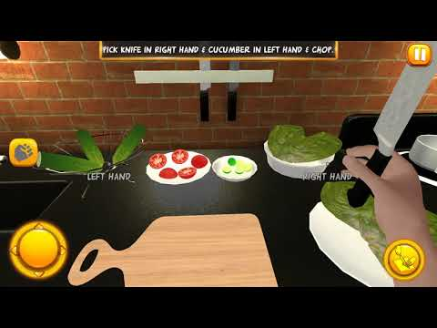 Virtual Chef Cooking 3D Game 2018  Gameplay With A Glitch