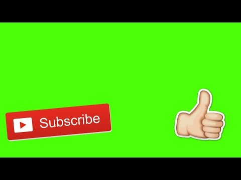 Subscribe And Like Button Animation   Green Screen