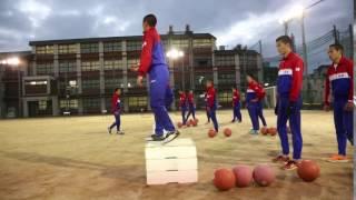 【洛南高校が行うボックスジャンプ】U20世界陸上100m8位の身体の使い方