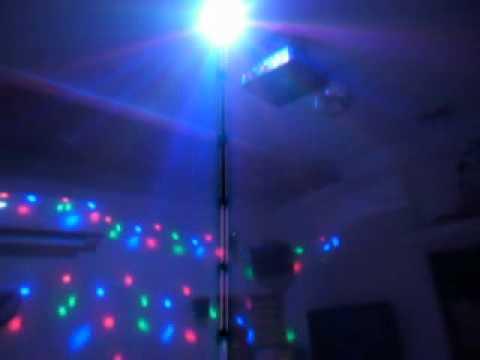Đèn led pha lê 7 màu PAH, đèn xoay 7 màu, đèn LED xoay nhiều màu