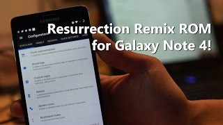 Here's a quick update/overview of latest Resurrection Remix ROM for Samsung Galaxy Note 4 users, this will get you on latest Android 7.1.1 Download & Details...