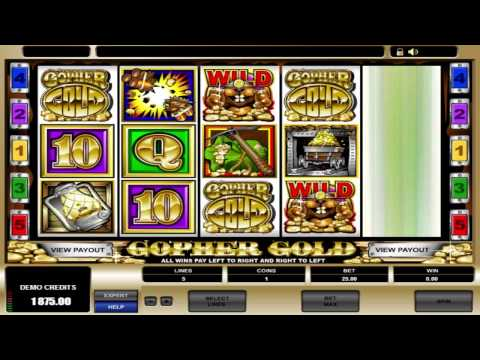FREE Gopher Gold ™ slot machine game preview by Slotozilla.com