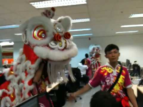 Lion Dance in Office