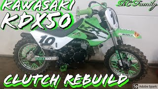 5. Clutch Rebuild 2 Stroke Kawasaki KDX 50 Kawasaki KFX 50 Suzuki JR 50 Suzuki LT 50 Dirt Bike How To