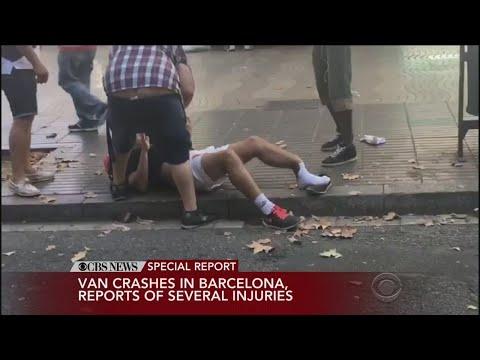Van Plows Into Crowd In Barcelona Terror Attack