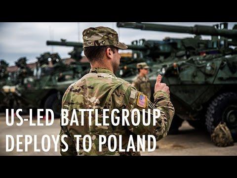US-led battlegroup deploys to Poland
