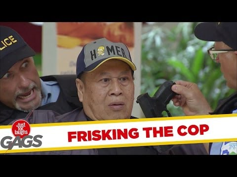 Cop Frisks Cop And Finds Naked Gun! - Youtube