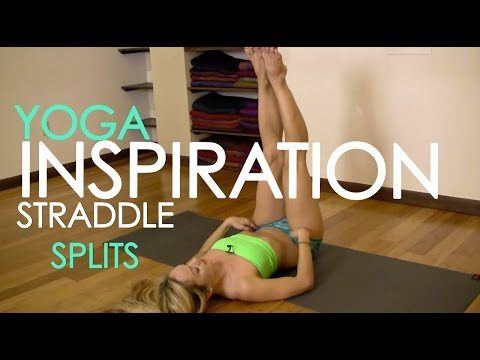 Straddle Front Splits, Yoga Stretch for Beginners with Kino video