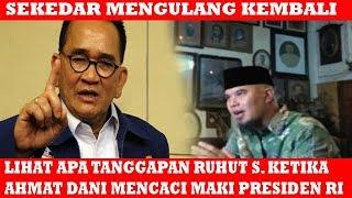 """Video Detik"""" Ahmat Dani Menghina Presiden RI, Inilah Tanggapan Ruhut S.. MP3, 3GP, MP4, WEBM, AVI, FLV Februari 2019"""