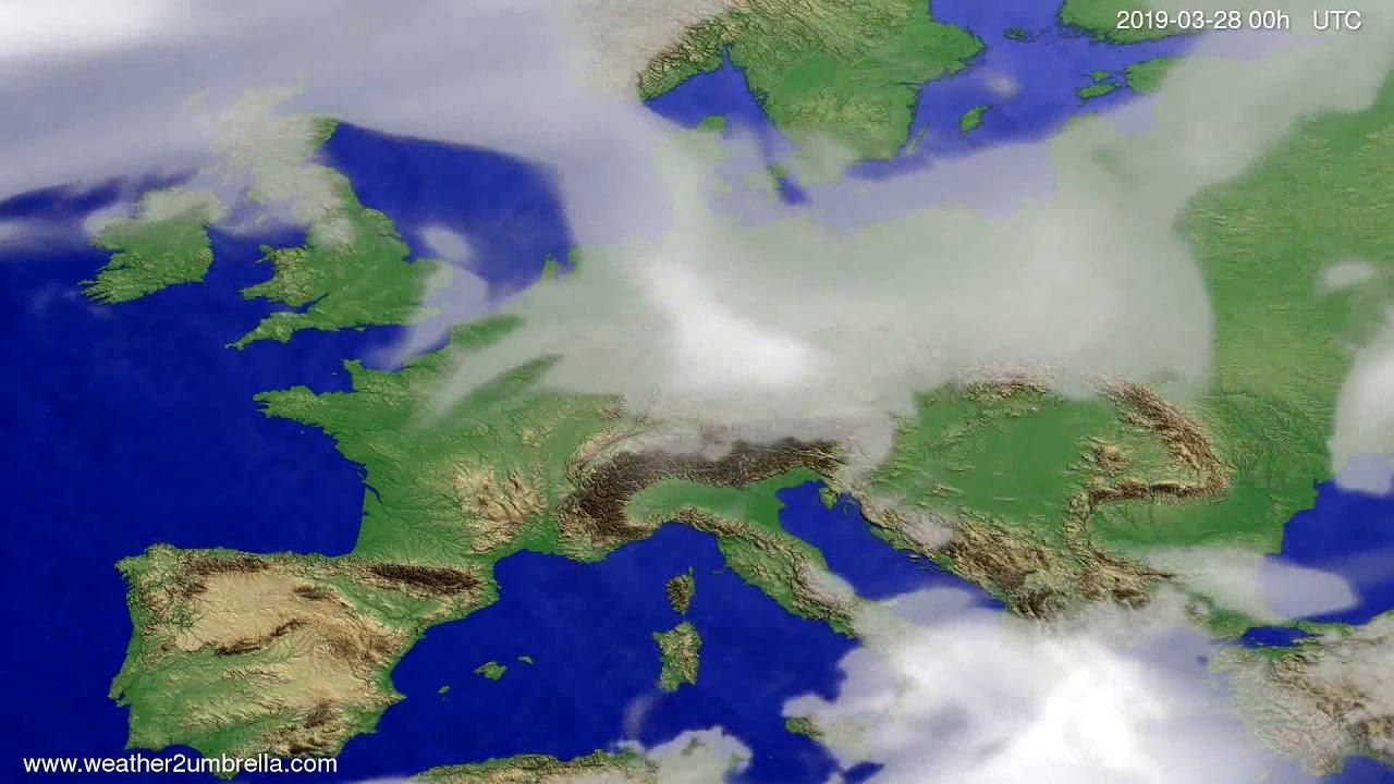 #Weather_Forecast// Cloud forecast Europe 2019-03-26