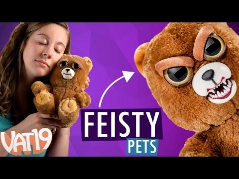 Feisty Pets (ФЕСТИ ПЕТС) Белый Мишка — Злая / Добрая Игрушку 22 см.