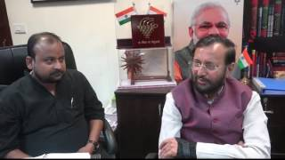 An Exclusive Interview with Union HRD Minister Prakash Javadekar by Uday India Weekly.