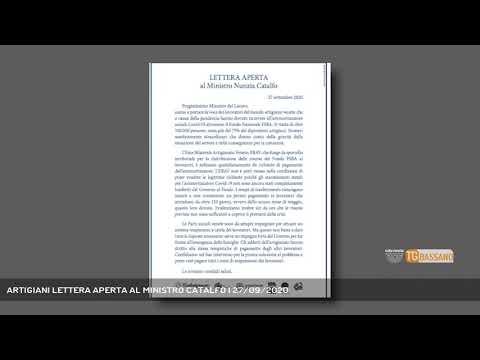 ARTIGIANI LETTERA APERTA AL MINISTRO CATALFO   27/09/2020