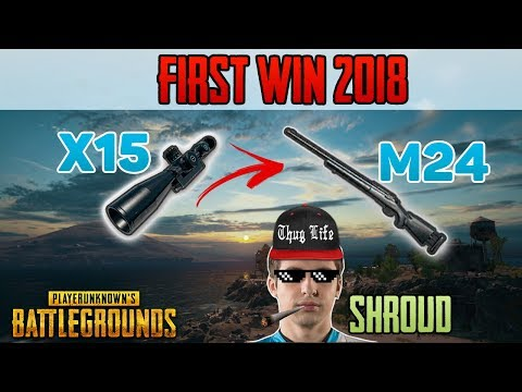 M24  + X15 Scope - Shroud Win First Solo Game 2018 - PUBG HIGHLIGHTS TOP 1 #35