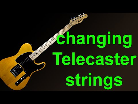 Putting new strings on a Fender Squier Telecaster – How to change guitar strings