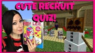 AM I A CUTE RECRUIT?!   Ultimate Cute Recruit Quiz!   Amy Lee33