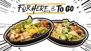 """Episode 4 of """"For Here or To Go"""" will show you two ways to hack Taco Bell's Power Menu Bowl. New episodes every Thursday. View full recipes: http://ta.co/FHOTG4SUBSCRIBE to Taco Bell: http://bit.ly/2dkMX81More About For Here or To Go: #ForHereOrToGo is where we teach you how to take Taco Bell menu items to the next level """"for here"""" in our restaurants or """"to go"""" at home.Watch The #TacoBellClipShow: https://www.youtube.com/watch?v=CDuDsfx6gNg&list=PL9VMRoKH1FlkgylkKiMZUt0GolYc1ihVd&index=2Catch up on #TacoTales: https://www.youtube.com/watch?v=RTNIxwpoWAg&index=1&list=PL9VMRoKH1FllvBGr8t-4WapdtCVomLo32Connect with Taco Bell Online:Visit the Taco Bell WEBSITE: http://bit.ly/2d9aD1mLike Taco Bell on FACEBOOK: http://bit.ly/2dScghgFollow Taco Bell on TWITTER: http://bit.ly/2dQANEwFollow Taco Bell on INSTAGRAM: http://bit.ly/2dABLG2Add Taco Bell on SNAPCHAT: http://bit.ly/2cXAPxwDownload The Taco Bell Mobile Ordering App: http://bit.ly/2dyq97wAbout Taco Bell:Taco Bell is the nation's leading Mexican-inspired quick service restaurant. Taco Bell serves made to order and customizable tacos, burritos, and specialties such as the exclusive Doritos® Locos Tacos and lower calorie Fresco Menu. The company encourages customers to """"Live Más,"""" both through its food and in ways such as its Feed The Beat® music program and its nonprofit organization, the Taco Bell Foundation™. Taco Bell has 7,000 restaurants across the United States that proudly serve more than 42 million customers every week.Power Menu Bowl Hacks  For Here or To Go  Taco Bellhttps://youtu.be/GFXAlDu-Wr0https://www.youtube.com/c/TacoBell"""