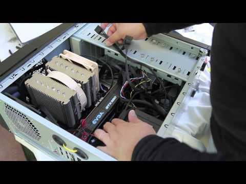 cable supply - Peter Chang demonstrates how to install a power supply cable in a modular power supply just for the internal case fans.