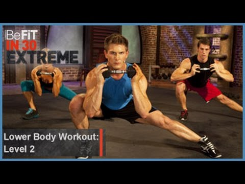 befit - Lower Body Shred Workout | Level 2 from BeFit in 30 Extreme is a fierce, lower body-sculpting, strength-training workout that focuses on several major muscle...