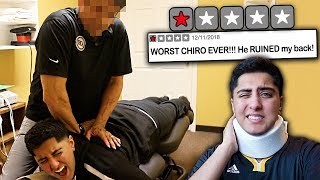 Video Going to the WORST REVIEWED CHIROPRACTOR in my City! *ADJUSTMENT GONE WRONG* MP3, 3GP, MP4, WEBM, AVI, FLV Juni 2019