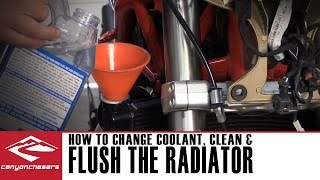 9. How to Flush the Radiator on your Motorcycle and Change the Coolant